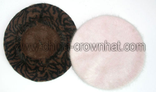 864C-1 Rabbit hair beret